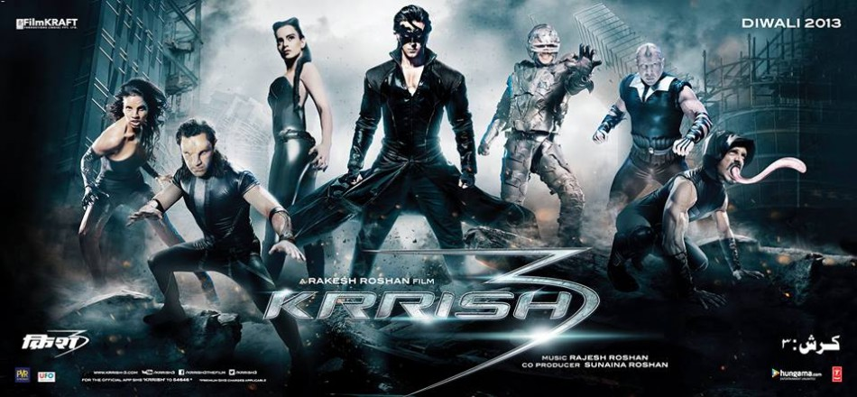 Krissh 3 poster (Facebook Official page Krrish 3)