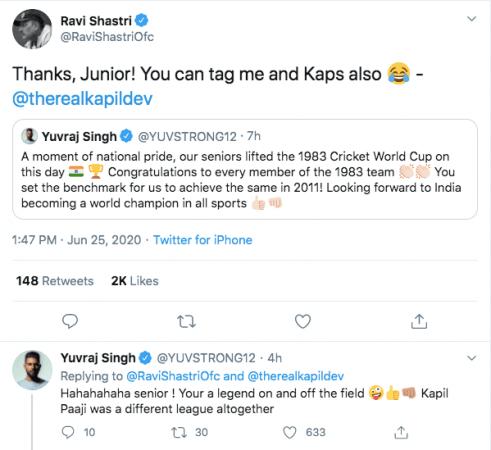 Tweet de Ravi Shastri