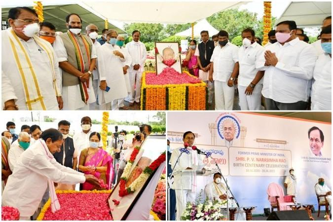 K Chandrashekar Rao rindió homenaje al ex primer ministro tarde PV Narasimha Rao el domingo