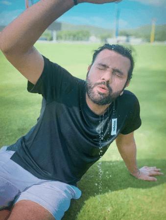 Entrenamiento al aire libre de Rohit Sharma