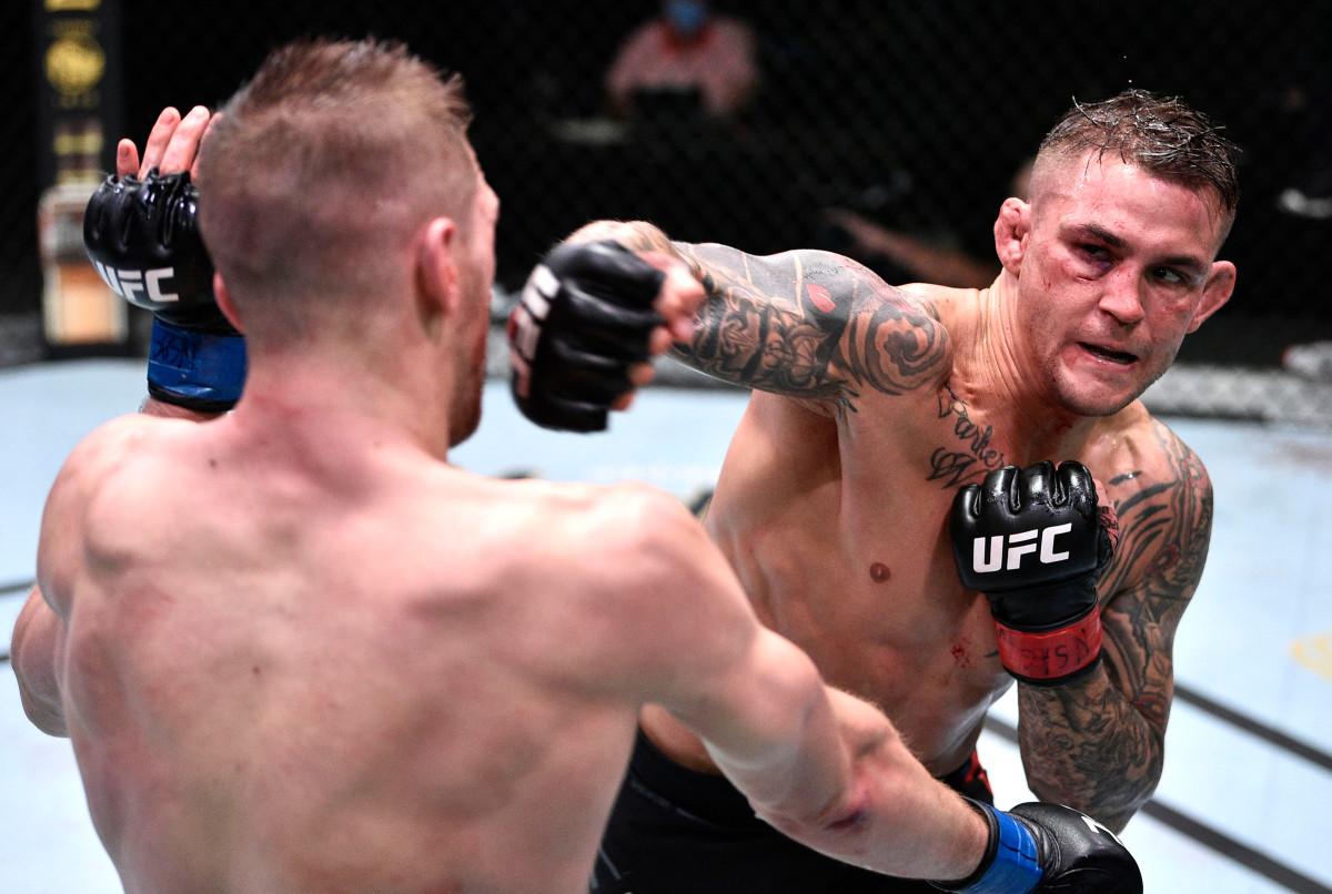 Dustin Poirier sobrevive a la brutal segunda ronda para ganar el slugfest de UFC