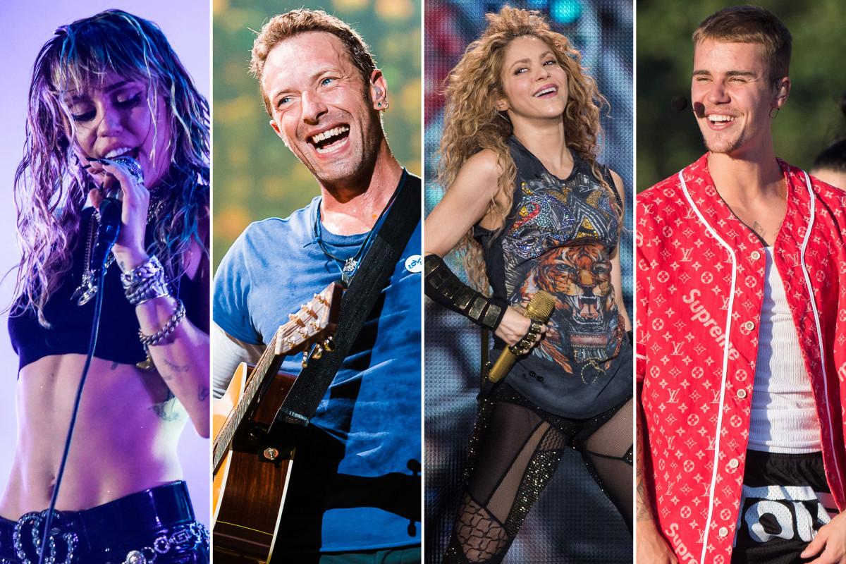 El concierto de Global Citizen presenta a Justin Bieber, Miley Cyrus, Coldplay