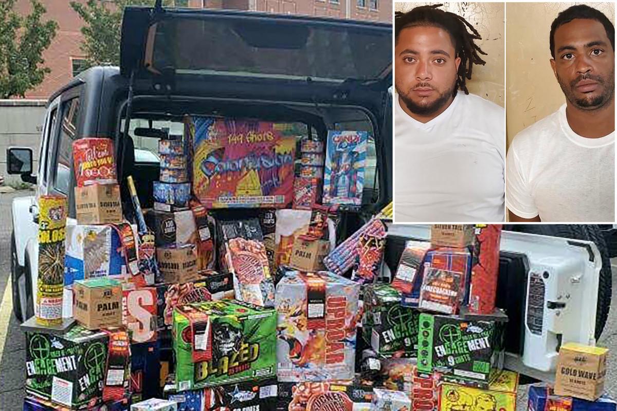 FDNY Marshals arrestan a 2 hombres con $ 4,500 en fuegos artificiales ilegales