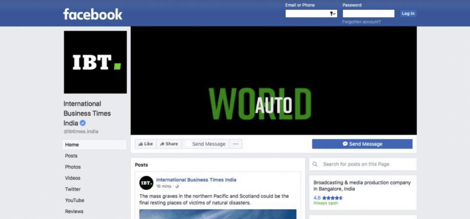 Facebook, página verificada, solicitud