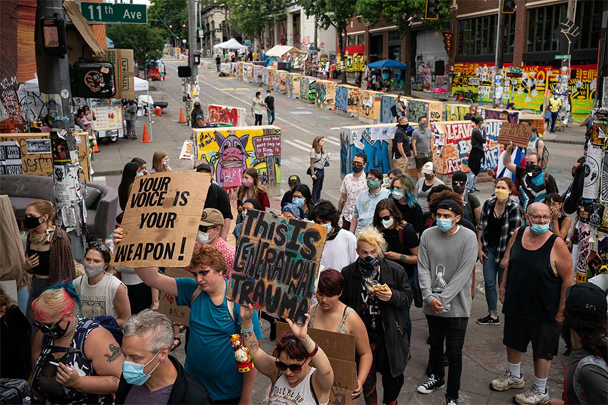 """Las empresas y residentes de Seattle demandan a la ciudad por la zona """"CHOP"""""""