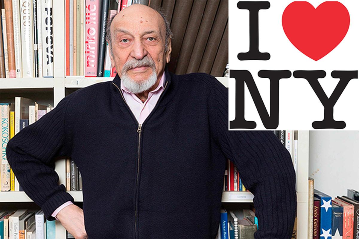 Milton Glaser, diseñador del logo 'I ♥ NY', muerto a los 91 años