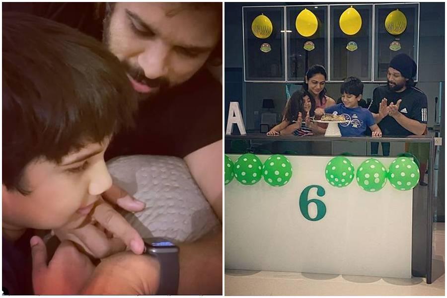 Allu Arjun comparte foto de los pasos de bebé de su hija