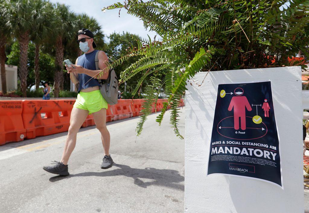 Nuevo récord estadounidense del mayor total de casos de coronavirus de un solo día establecido en Florida
