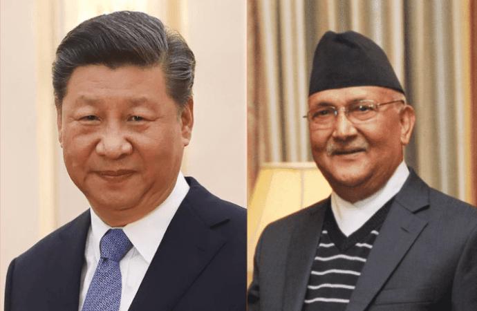 Líderes de Nepal y China