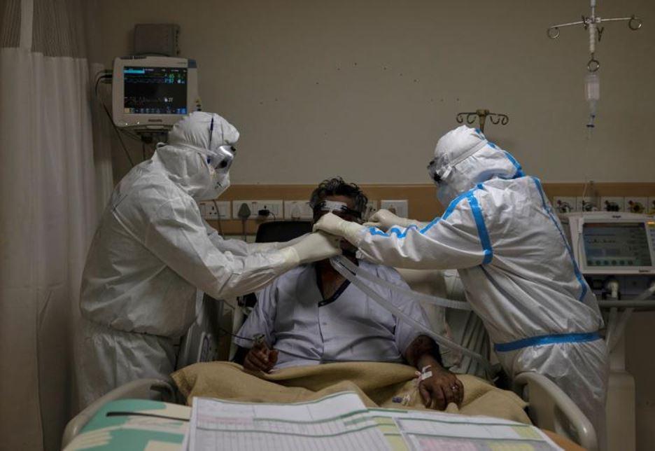 Coronavirus patient in hospital