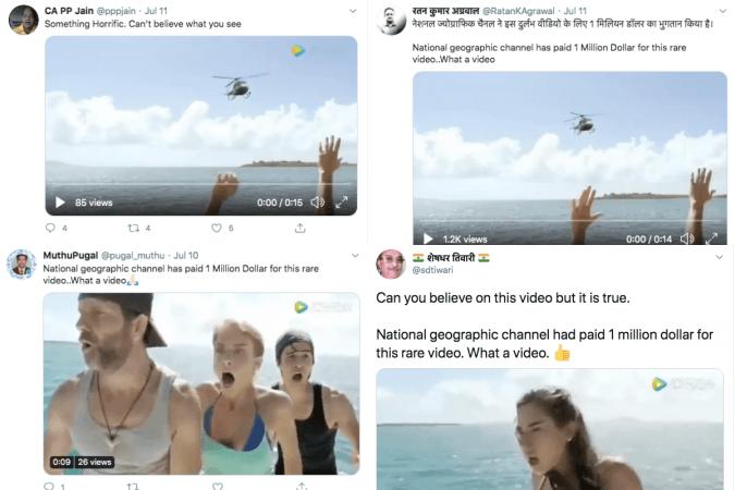 Tweets sobre el helicóptero de ataque de tiburones