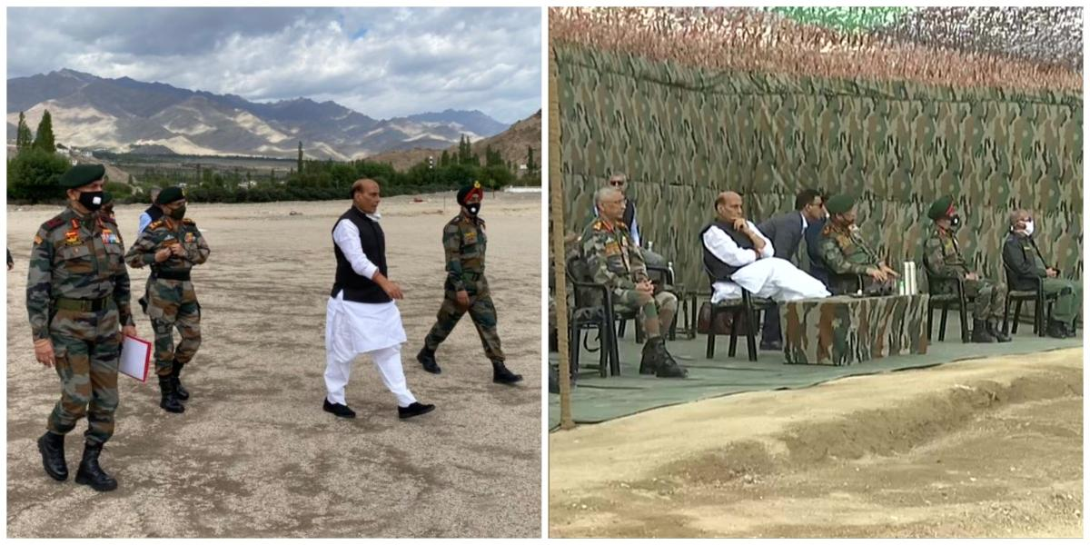 Defence Minister arrives in Leh to carry out security review, witnesses para dropping skills of Armed Forces