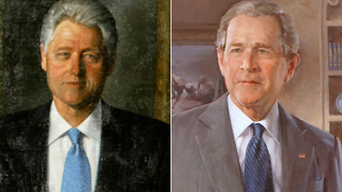 White House moves portraits of former presidents