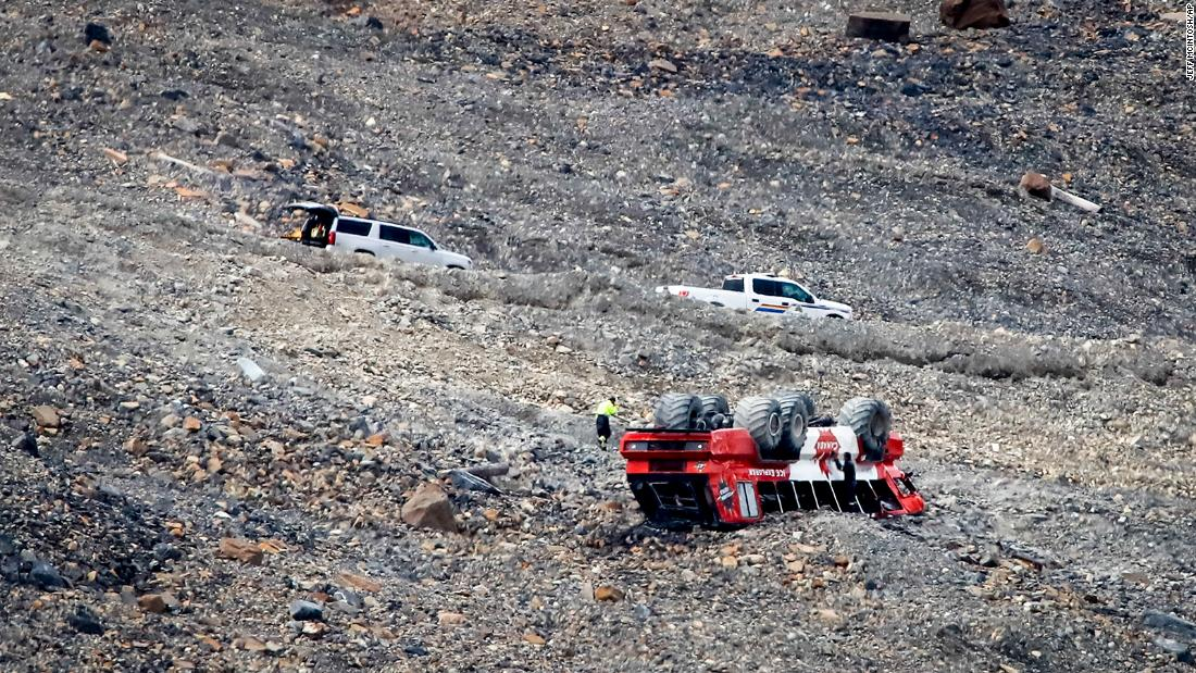 The bus crashed on the Columbia Icefield, in the Canadian Rockies.