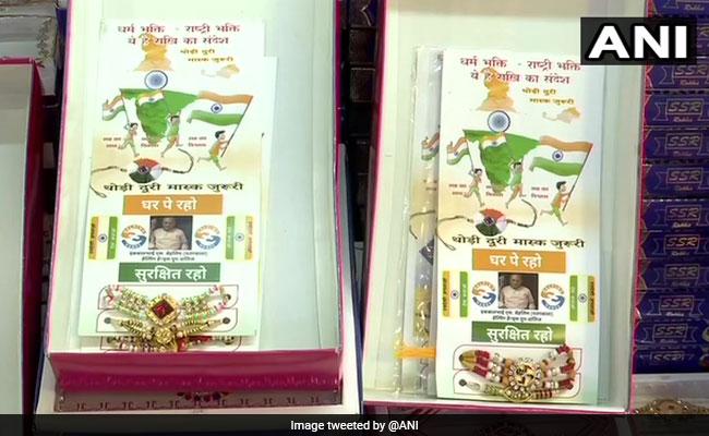 Raksha Bandhan 2020: los comerciantes de Gujarat venden rakhis con cotizaciones de precaución de COVID-19: usar máscaras