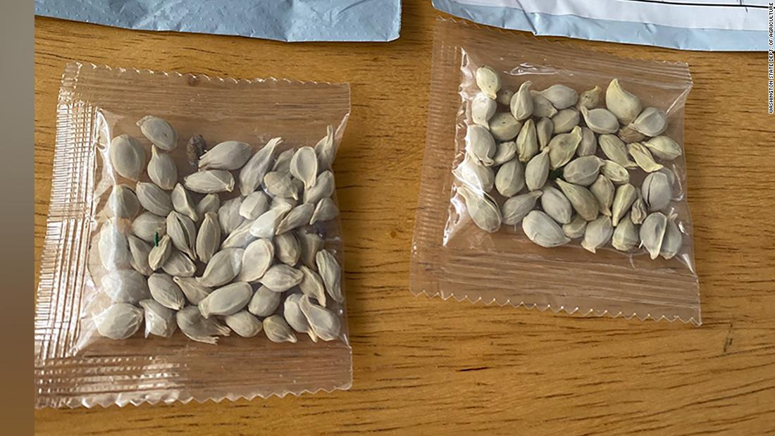 States are warning people not to plant the seeds they may have received in unsolicited packages. The packages appear to have originated in China, though it's unclear who exactly is behind them.