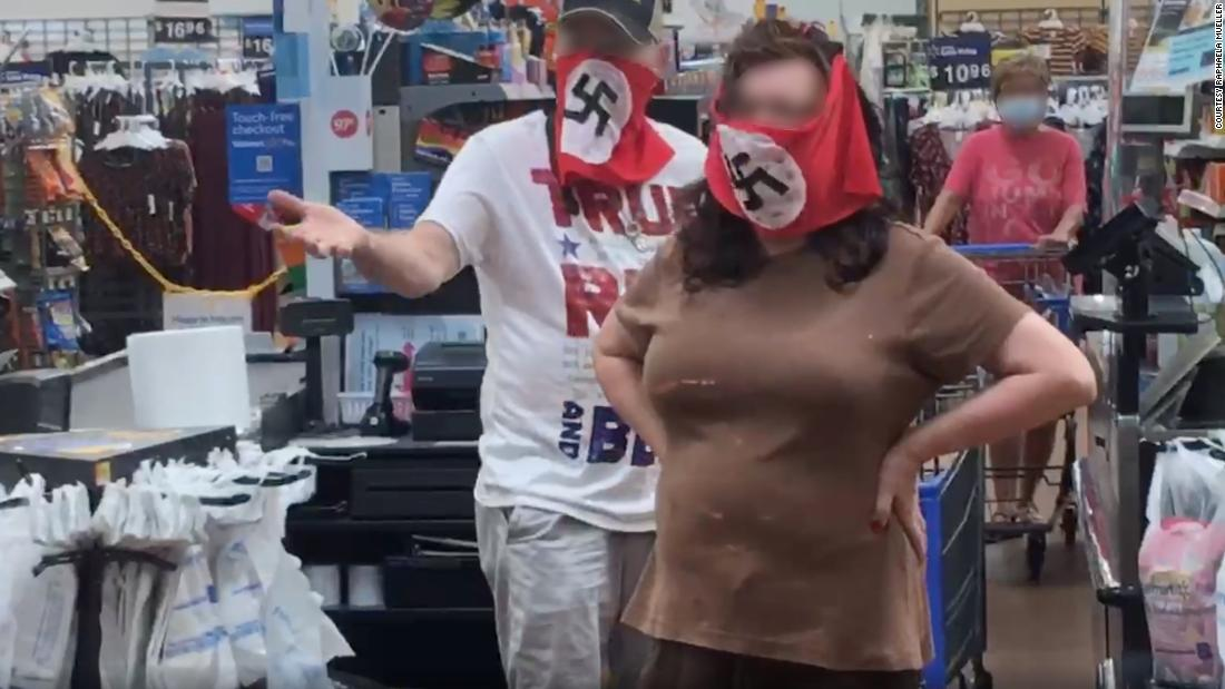 Walmart bans couple for wearing Nazi swastika face coverings