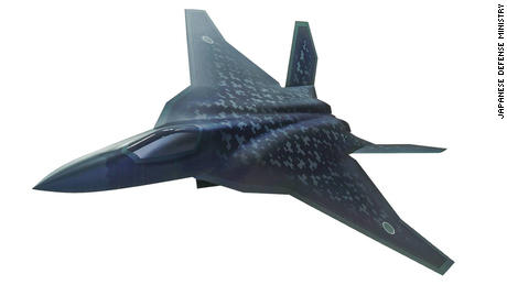 Un bosquejo del caza furtivo F-3 planeado de Japón.
