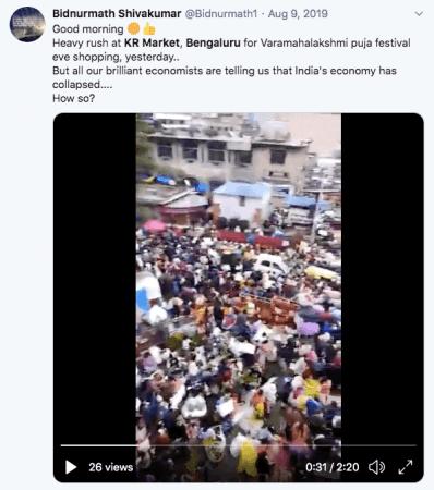 Tweet en video de KR Market