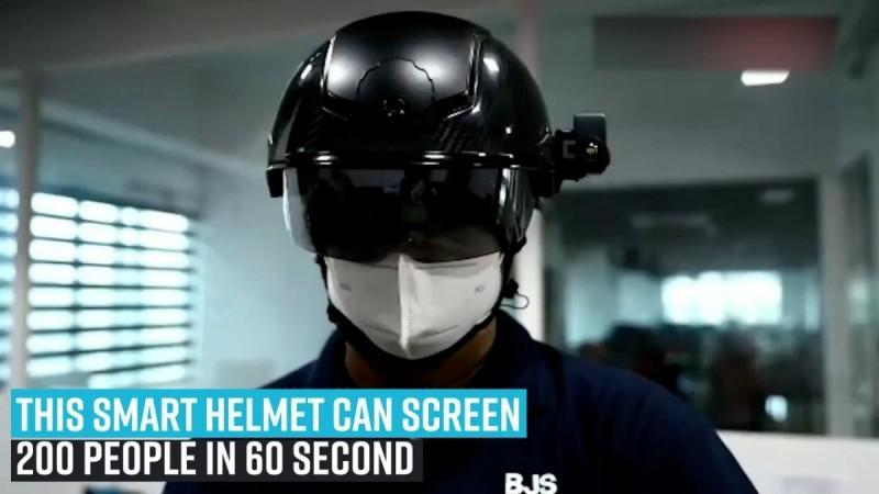 Coronavirus: este casco inteligente puede detectar a 200 personas en 60 segundos