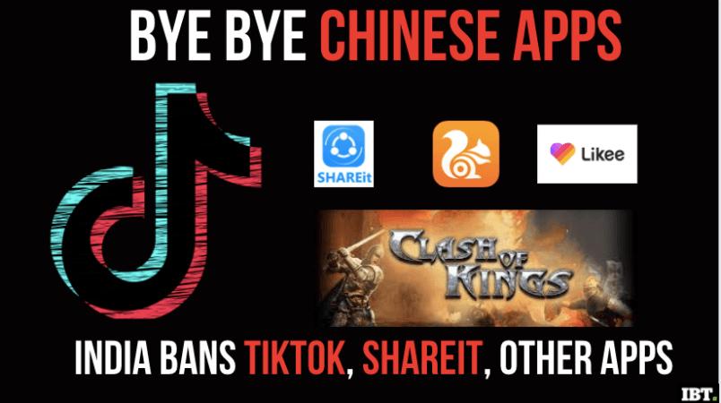 Aplicaciones chinas prohibidas en India
