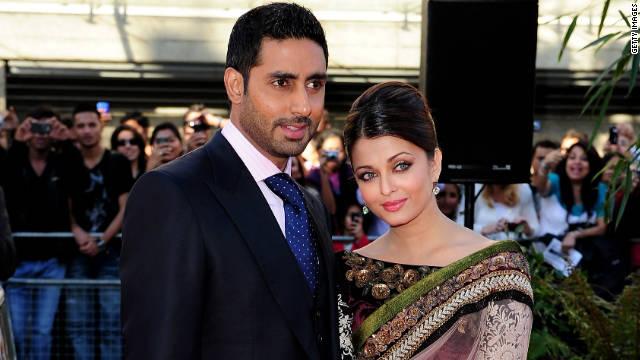 Abhishek Bachchan y Aishwarya Rai en el BFI Southbank el 16 de junio de 2010 en Londres, Inglaterra.