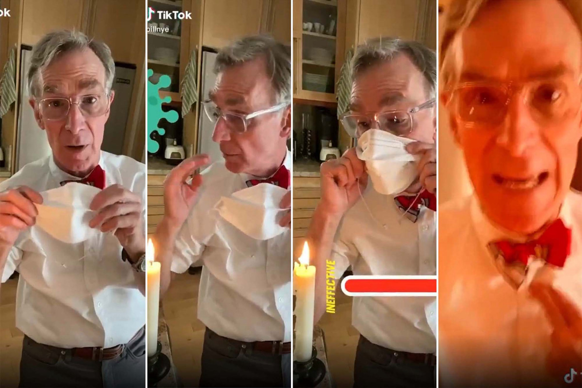 Bill Nye 'the Science Guy' insta al público a usar máscaras faciales