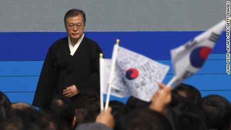 """""""El trato cruel y el abuso en los atletas son legados de los viejos tiempos que no pueden justificarse con ninguna palabra,"""" dijo el presidente Moon Jae-in."""
