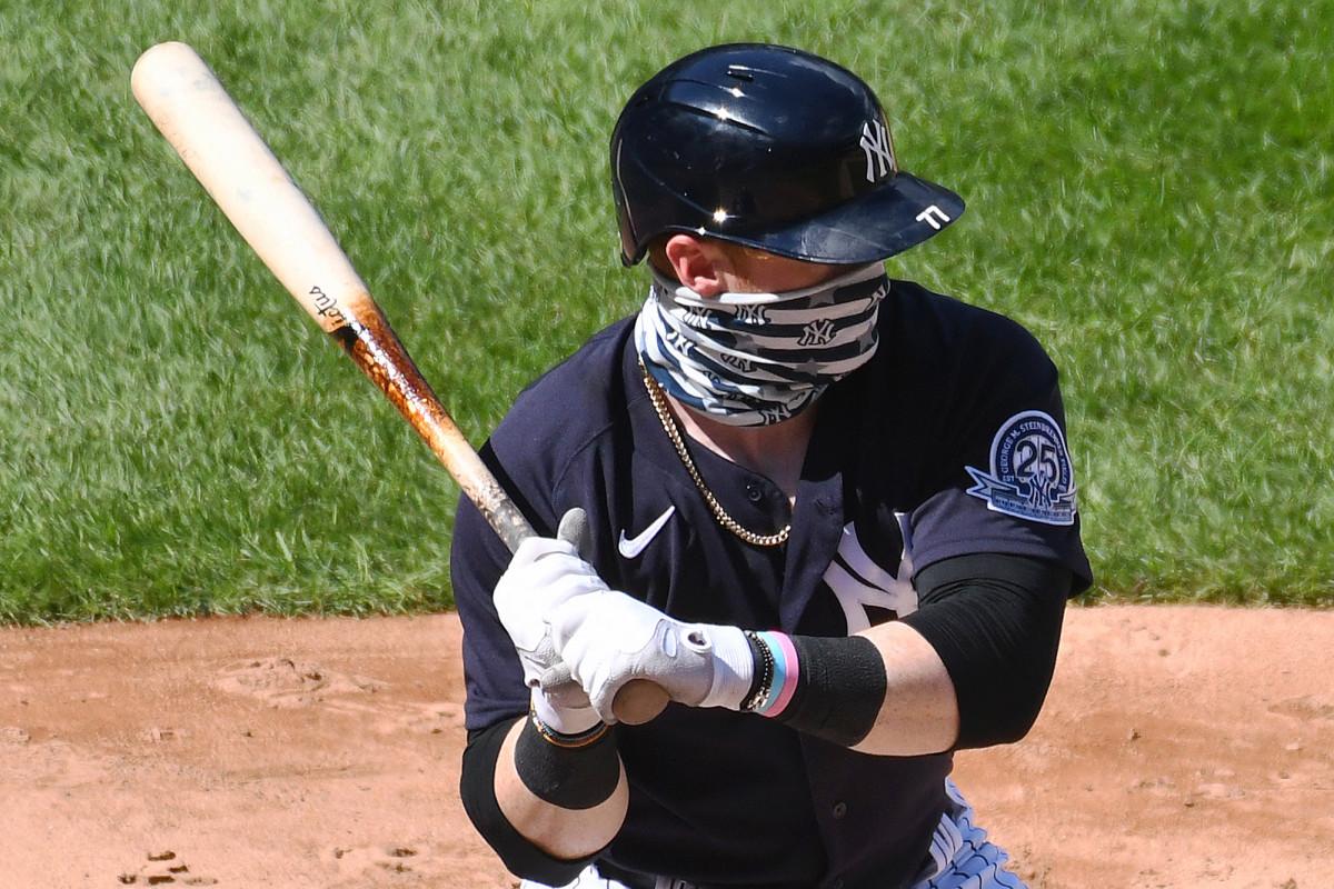 Clint Frazier de los Yankees hace una admirable promesa de usar máscaras