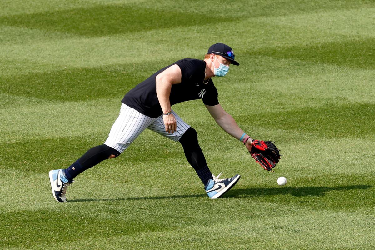 Clint Frazier de los Yankees, imperturbable por los críticos de su máscara