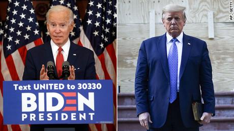 Las encuestas muestran que Biden es un claro favorito 100 días después de una elección sin precedentes.
