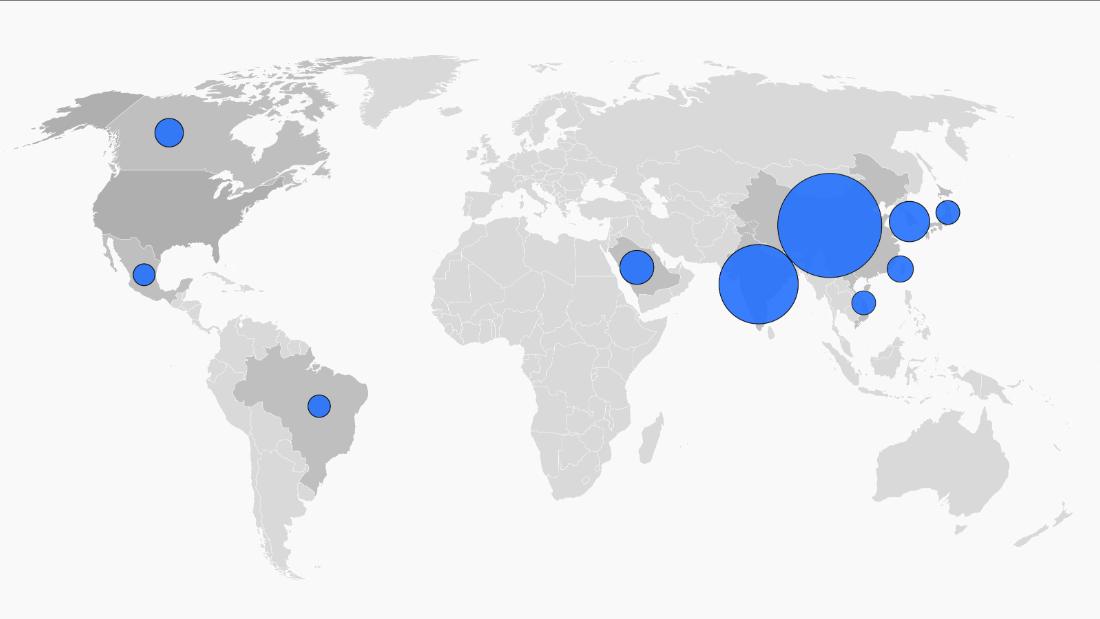 Hay más de 1 millón de estudiantes internacionales en Estados Unidos. Aquí es de donde son