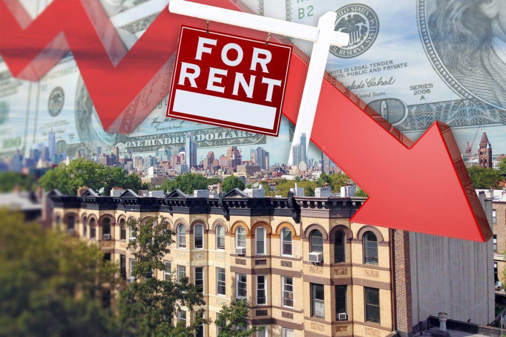 Los alquileres de Manhattan caen por primera vez en una década