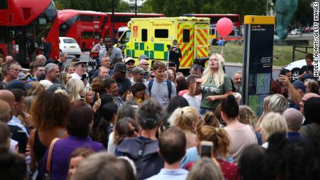 Cientos asistieron al mitin en Hyde Park.