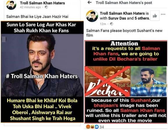 Campaña de los fanáticos de Salman Khan contra el trailer de Sushant Dil Bechara