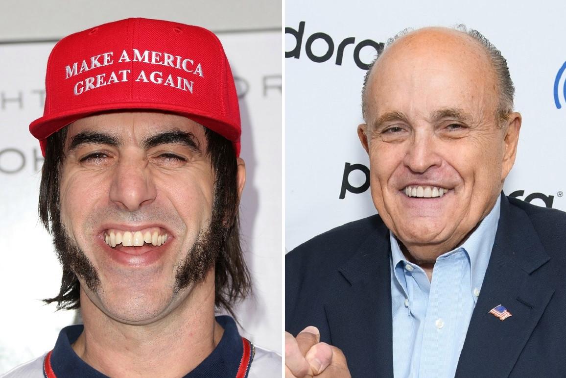 Sacha Baron Cohen trató de bromear con Rudy Giuliani en Drag pero se prendió