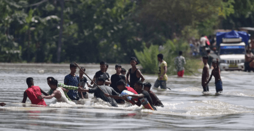 Assam inundaciones 2020