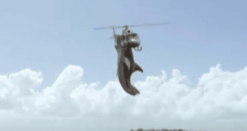 Helicóptero de ataque de tiburones