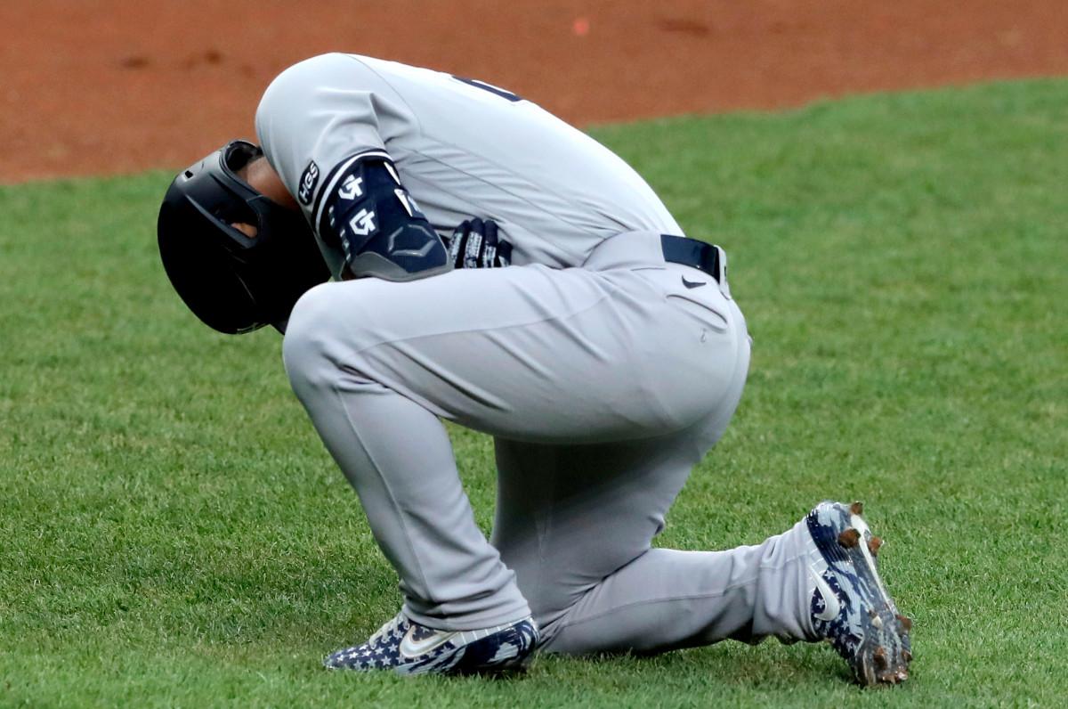 Yankees 'Gleyber Torres' día a día 'después de recibir un golpe en el codo