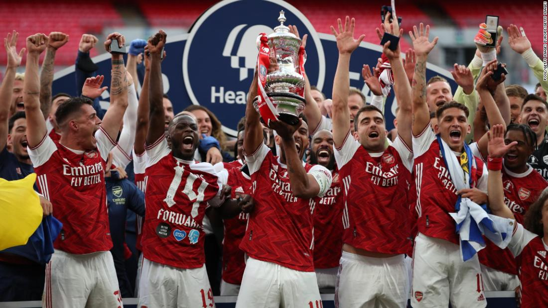 Pierre-Emerick Aubameyang scored the winner for Arsenal in the FA Cup final.