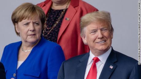 Angela Merkel, canciller de Alemania, y el presidente de los Estados Unidos, Donald Trump, en 2018.