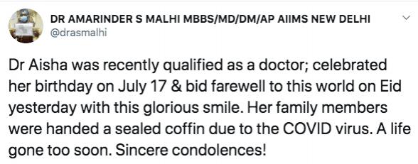 Tuitear sobre el Dr. Aisha