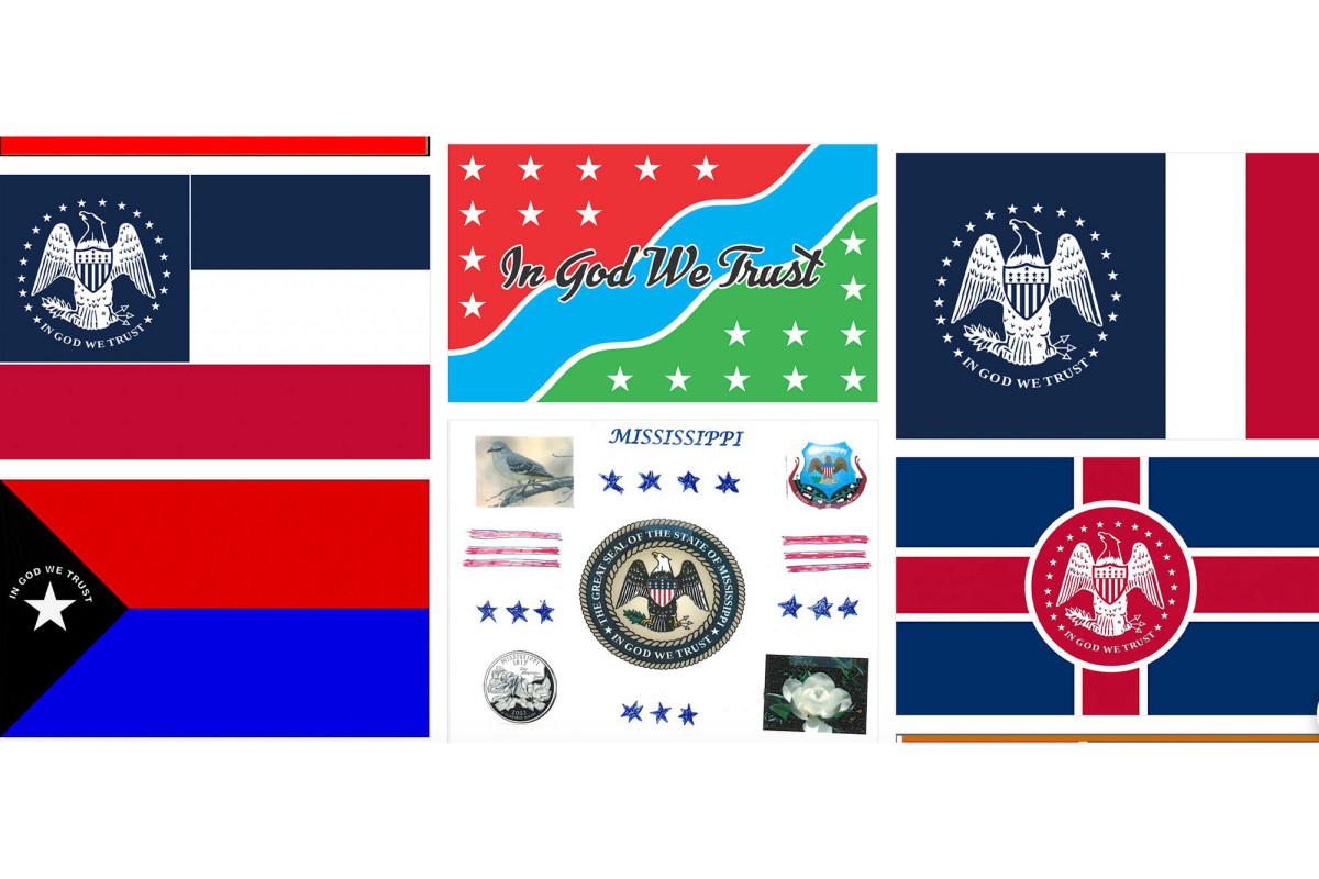 Las presentaciones para la nueva bandera del estado de Mississippi incluyen a Elvis Presley