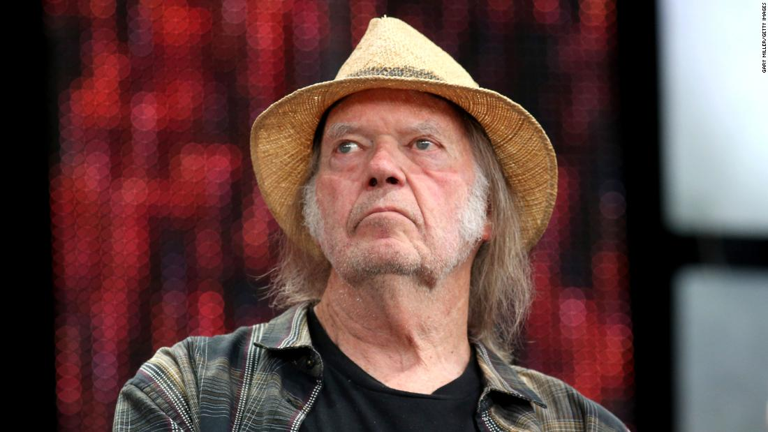 Neil Young is seen in September 2019 in East Troy, Wisconsin.