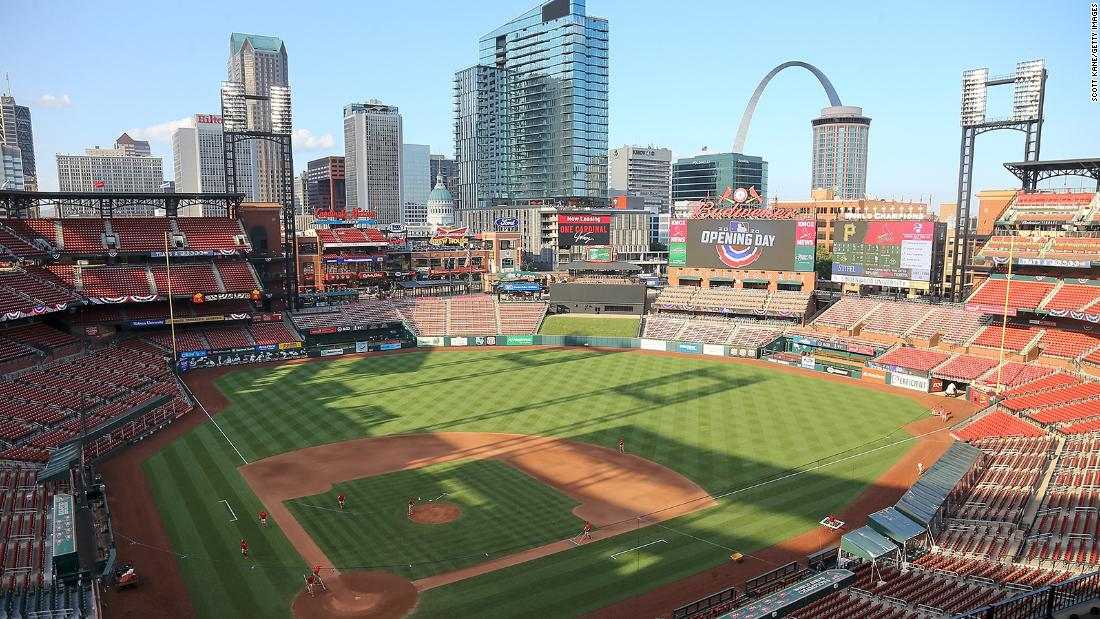 Busch Stadium on July 24, 2020 in St. Louis, Missouri.