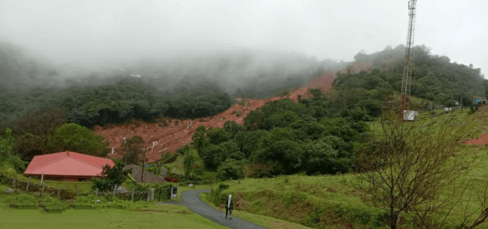 Kodagu en el deslizamiento de tierra de Bhagamandala