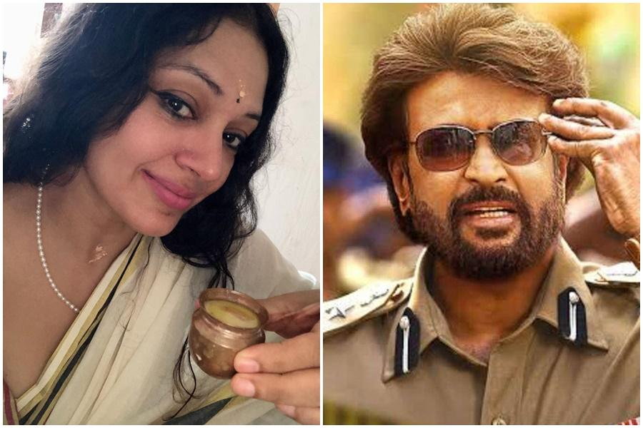 Shobana and Rajinikanth