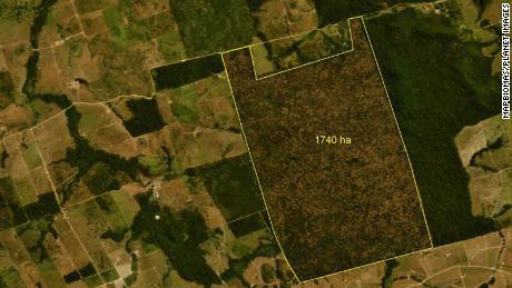 Itaituba después de la deforestación del 28 de julio de 2020