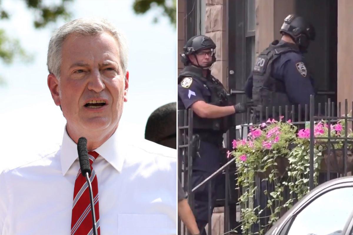 De Blasio defiende la decisión del NYPD de poner fin al enfrentamiento con el manifestante de BLM
