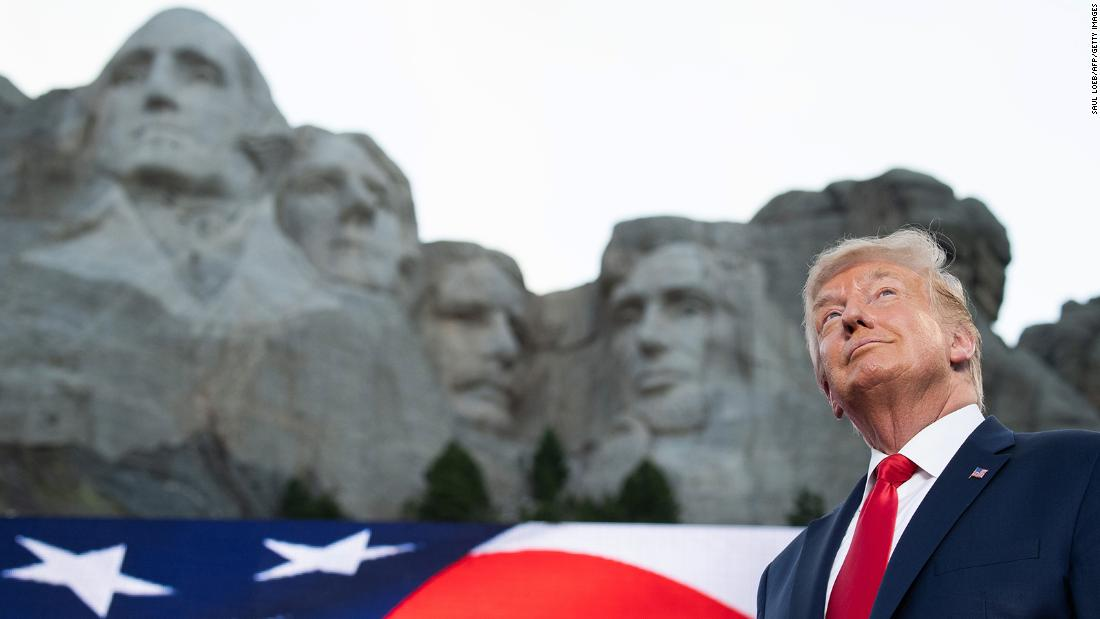 President Donald Trump arrives for the Independence Day events at Mount Rushmore National Memorial in Keystone, South Dakota, July 3, 2020. Photo by SAUL LOEB/AFP via Getty Images)